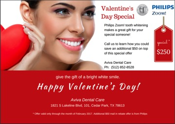 Read the full article on Valentine's Day Special Offer on Zoom Whitening
